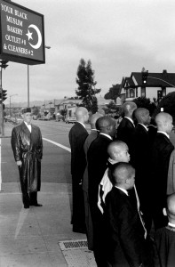 """Drilling was an integral part of Bey's campaign to save young black men from the """"mental murder"""" he sees embedded in American Society. Historical photo taken in 1995 (contributed photo)"""