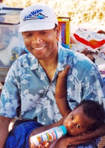 Chauncey Bailey with his son, Chauncey Bailey III (courtesy of the Bailey family)
