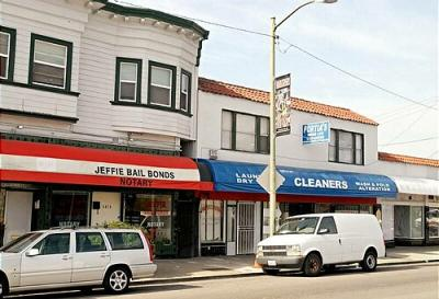 These properties at 5873 to 5877 San Pablo Avenue in Oakland, Calif., shown on Oct. 26, 2007, belong to Daulet Bey, according to property records. (Karna Kurata, Oakland Tribune)
