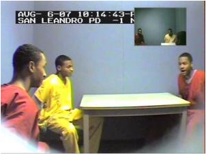 Yusuf Bey IV, right, is caught on secret police video discussing the murder of journalist Chauncey Bailey.
