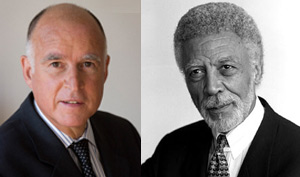 California Attorney General Jerry Brown and Oakland Mayor Ron Dellums