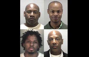 Dahood Bey, Jonathan Moore, Basheer Muhammad, Ajuwon Muhammad, clockwise from upper left (CChing/CIR)