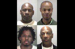 Dahood Bey, Jonathan Moore, Basheer Muhammad, Ajuwon Muhammad, clockwise from upper left (Ching/CIR)