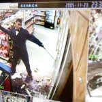 Black Muslim Bakery member is recorded in a surveillance camera