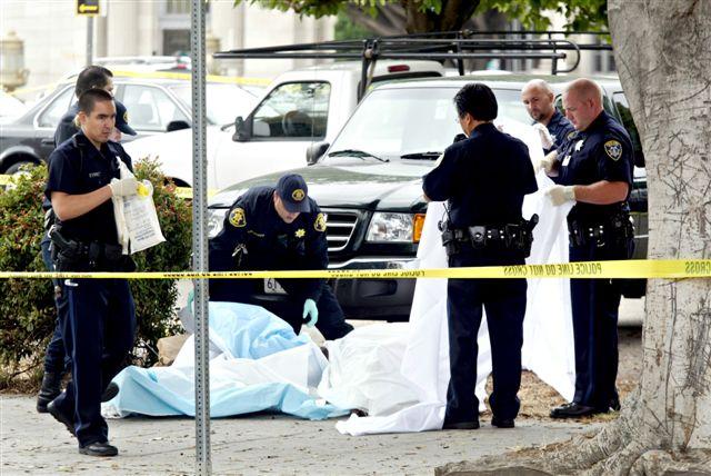 Scene where Chauncey Bailey was shot dead